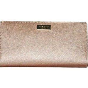 Kate Spade Rose Gold Stacy Newbury Lane Wallet
